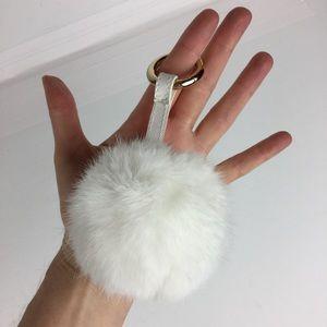Accessories - 4/$25 NWT Fluffy Faux fur pompom bag charm